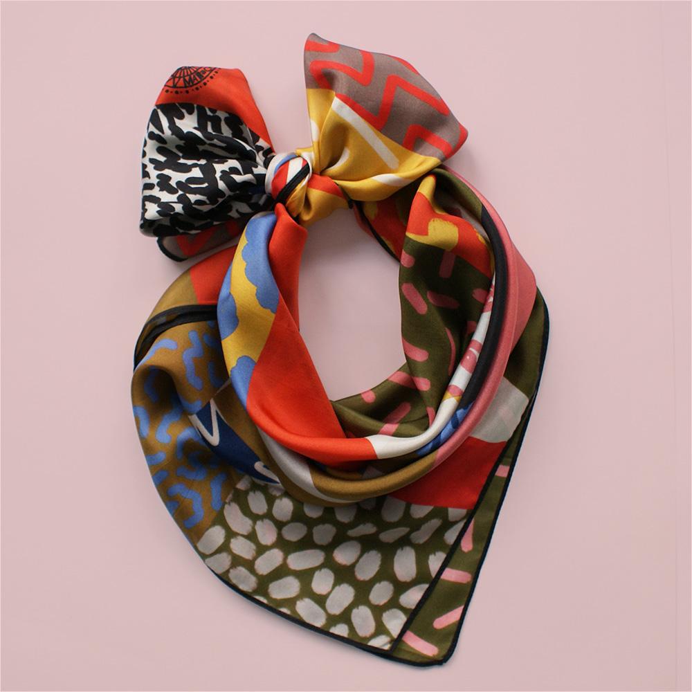 foulard lyon afrique safari soie