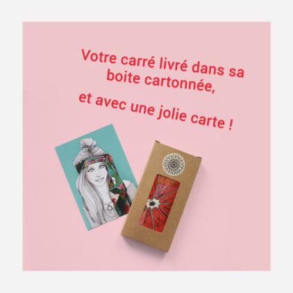 foulard lyon boite package carte