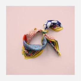 foulard lyon carre jaune soie afrique yellow naive soie