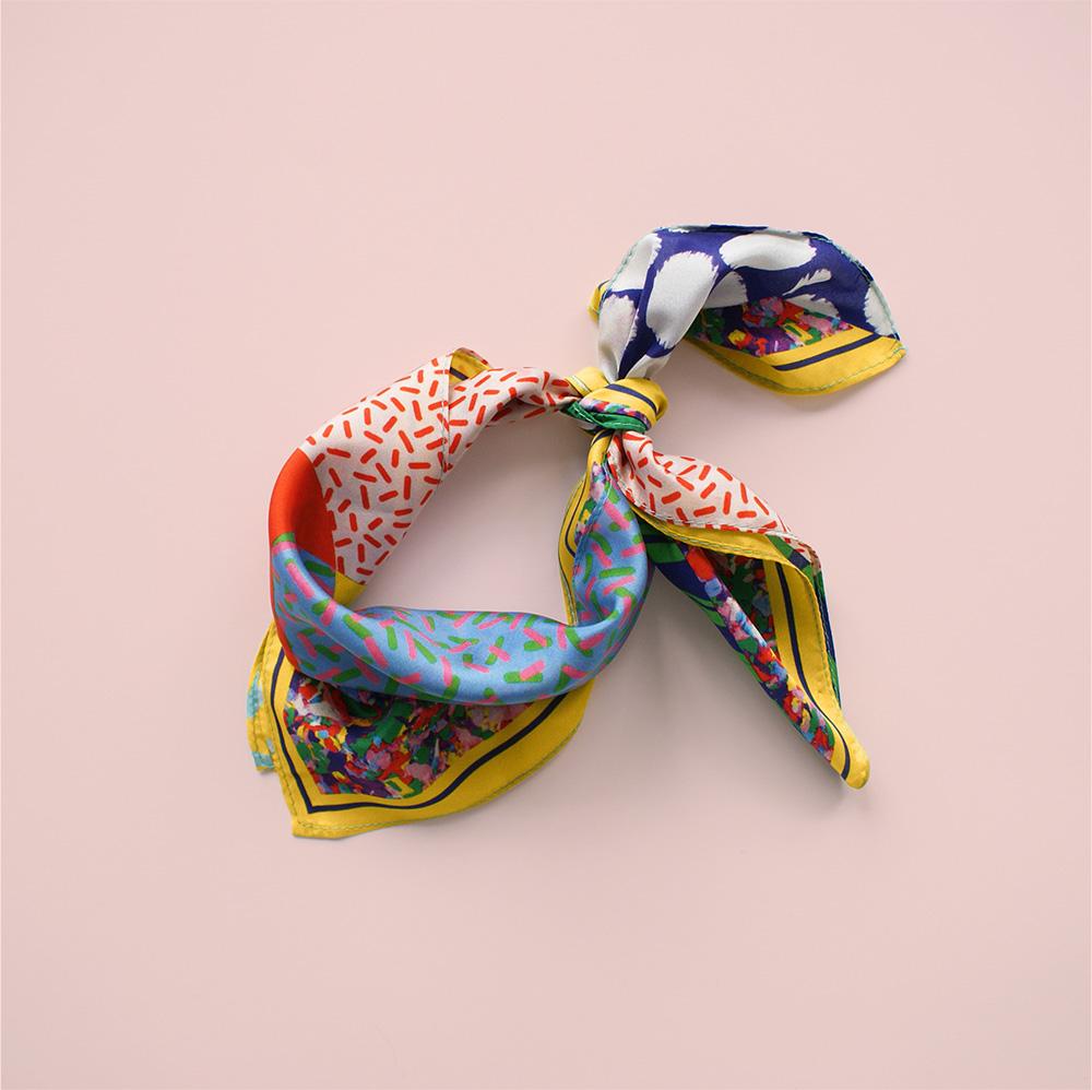 foulard lyon jaune soie afrique yellow naive soie