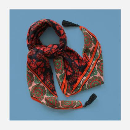 foulard lyon laine etole echarpe memoir tolede rouge