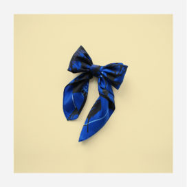 foulard lyon soie carre bleu noir blue splash
