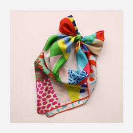 foulard lyon soie carre couleurs afrique colorful africa