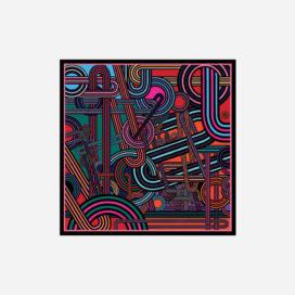 foulard lyon soie carre couleurs reseau electric