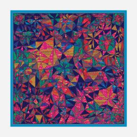 foulard lyon soie carre ethnique elsa motif