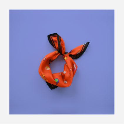 foulard lyon soie carre fashion bazar orange