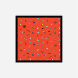 foulard lyon soie carre objets fashion bazar orange