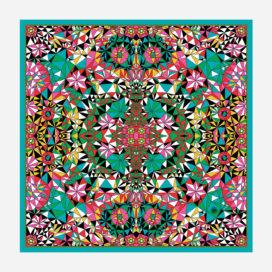 foulard lyon soie carre psychedelique zoé motif