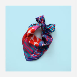 foulard lyon soie carre rouge rose bleu afrique blue naive
