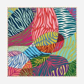 foulard lyon soie carre zebre juliette motif
