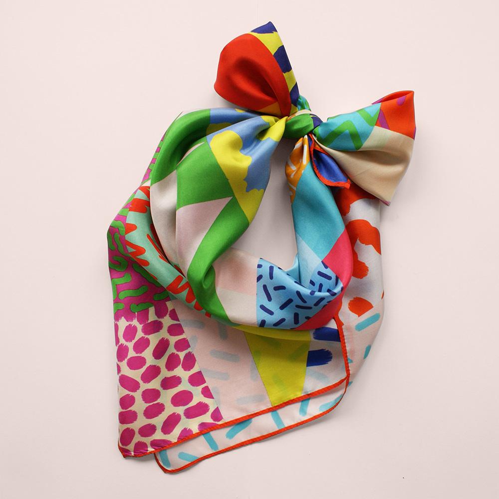 foulard lyon soie couleurs afrique colorful africa
