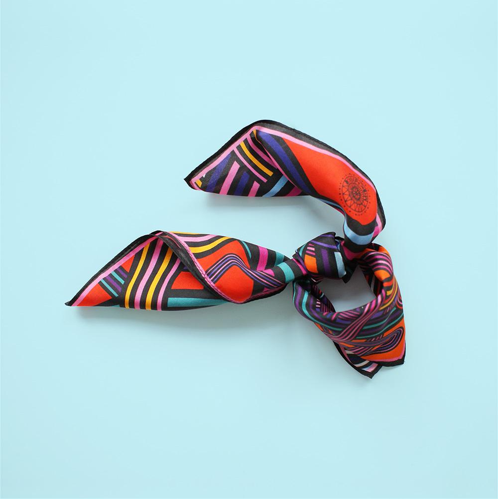 foulard lyon soie couleurs electric