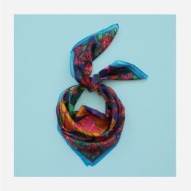 foulard lyon soie ethnique elsa porter