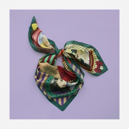 foulard lyon soie visage retro mode penelope