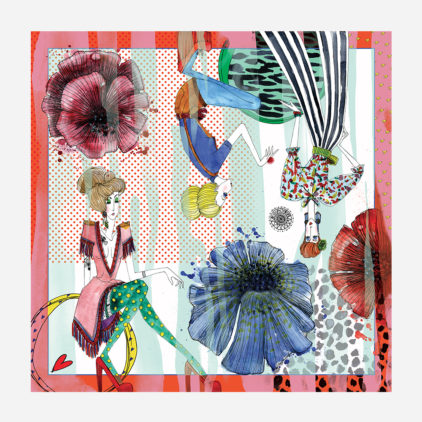 foulard lyon soie carre couleurs charlotte