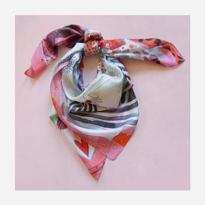 foulard lyon soie carre couleurs charlotte nouer
