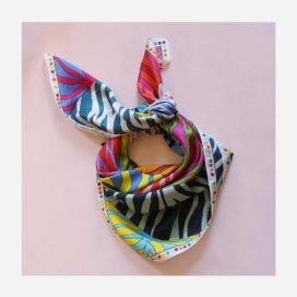foulard lyon soie carre couleurs juliette