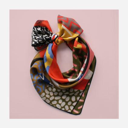 foulard lyon soie carre couleurs safari