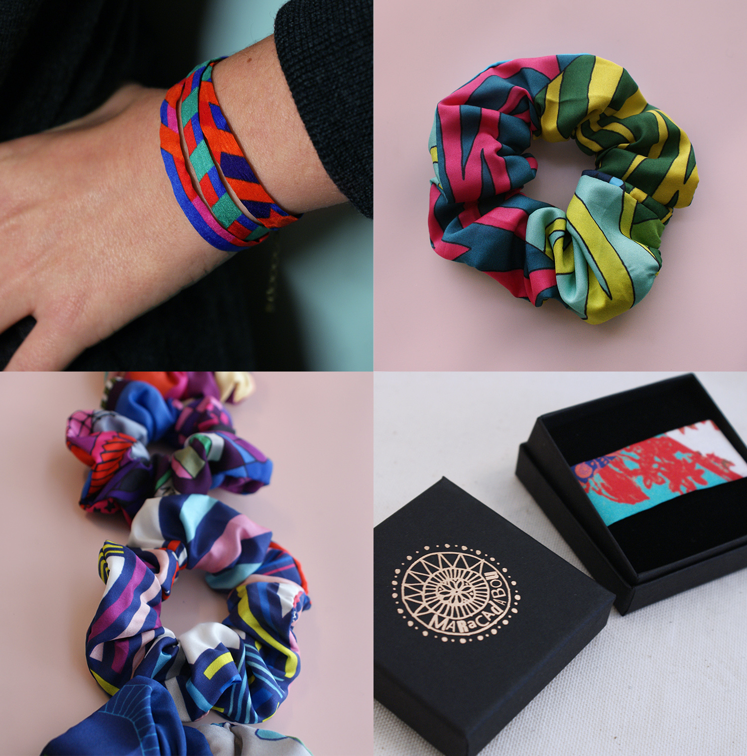 chouchou bracelet couleur pop