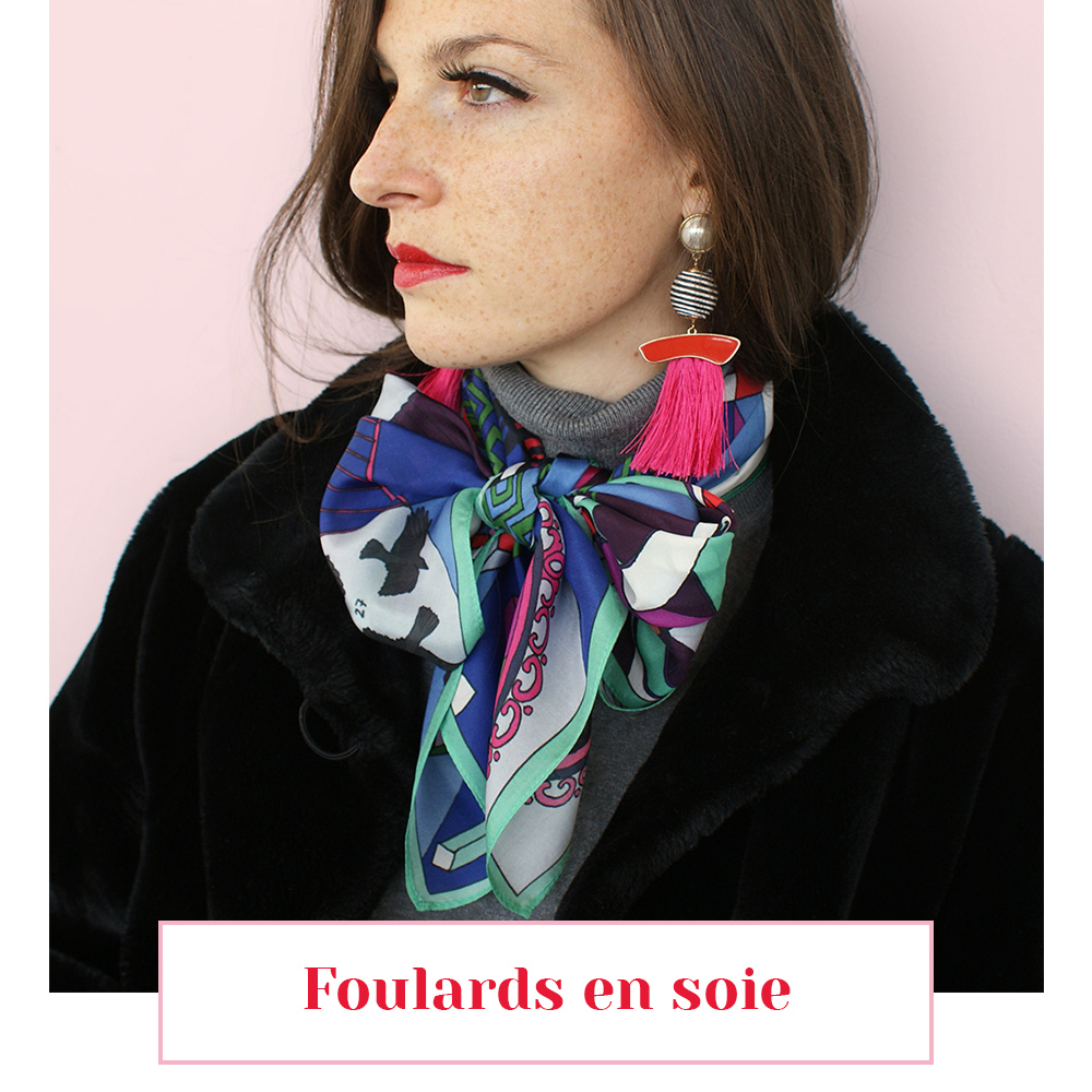 foulard soie lyon femme carre