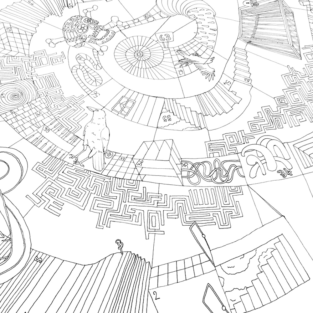 illustration lyon foulard motif jeu de loie