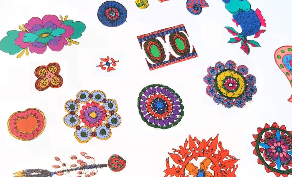 univers foulard lyon dessin motif orient