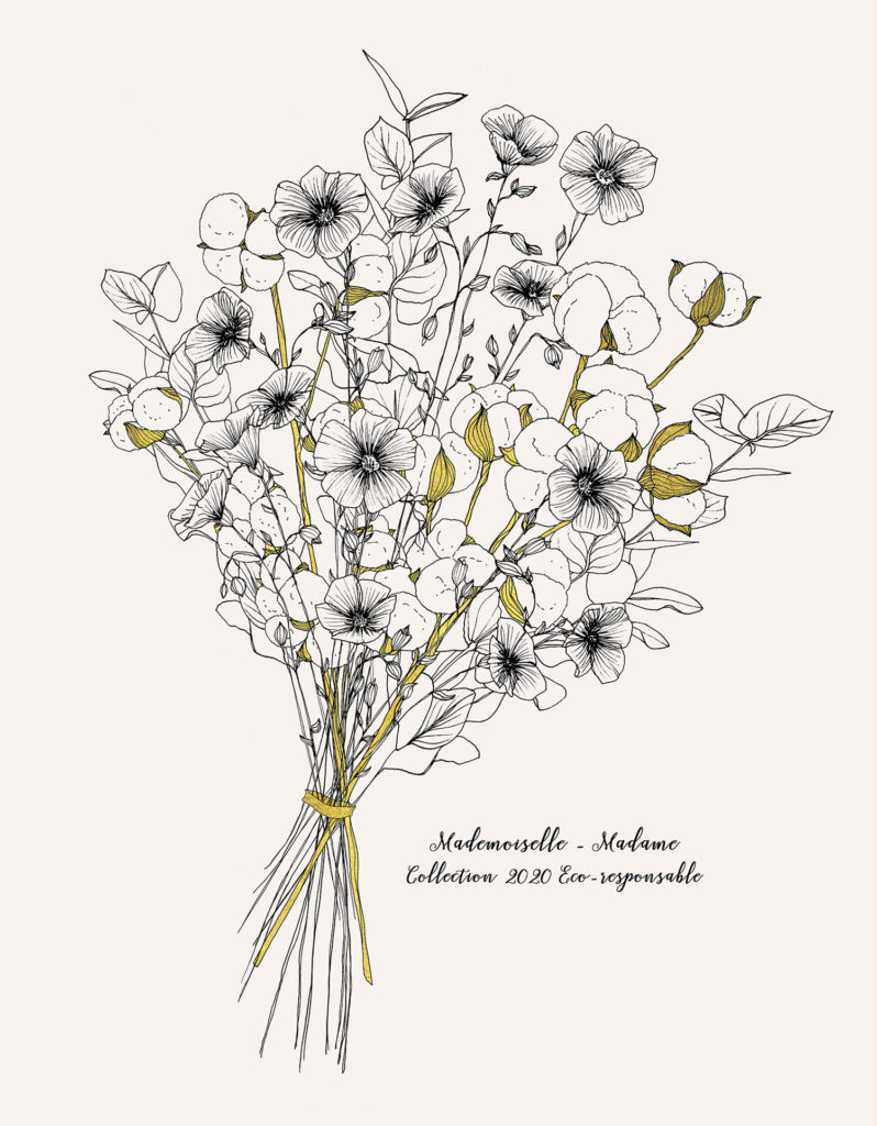 bouquet mademoiselle madame illustration copie