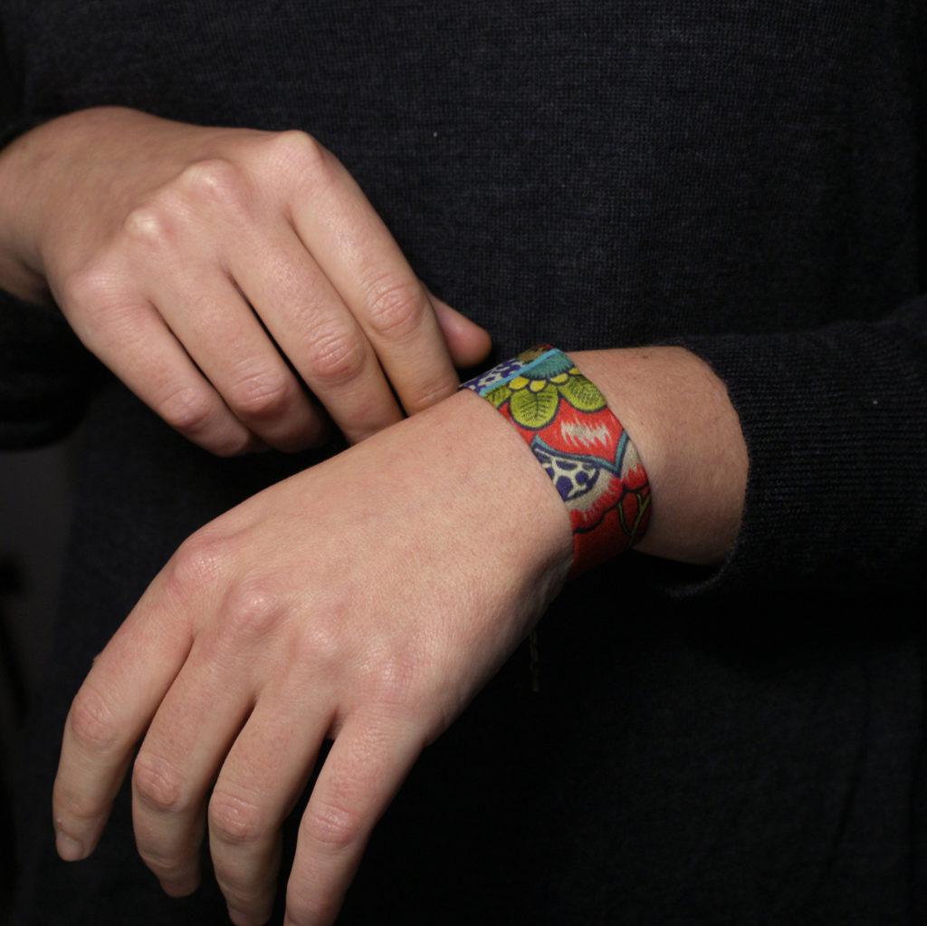 bracelet lyon soie