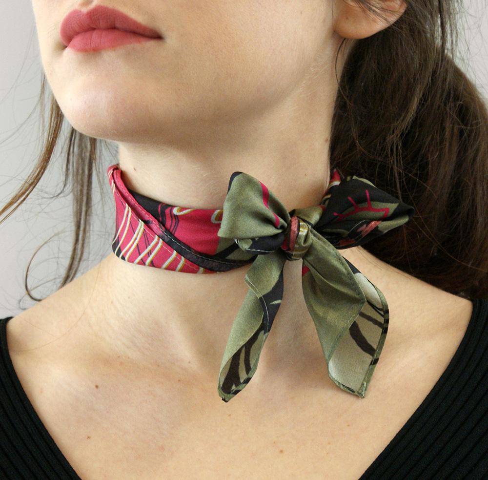 foulard noue lyon femme soie collaboration suite