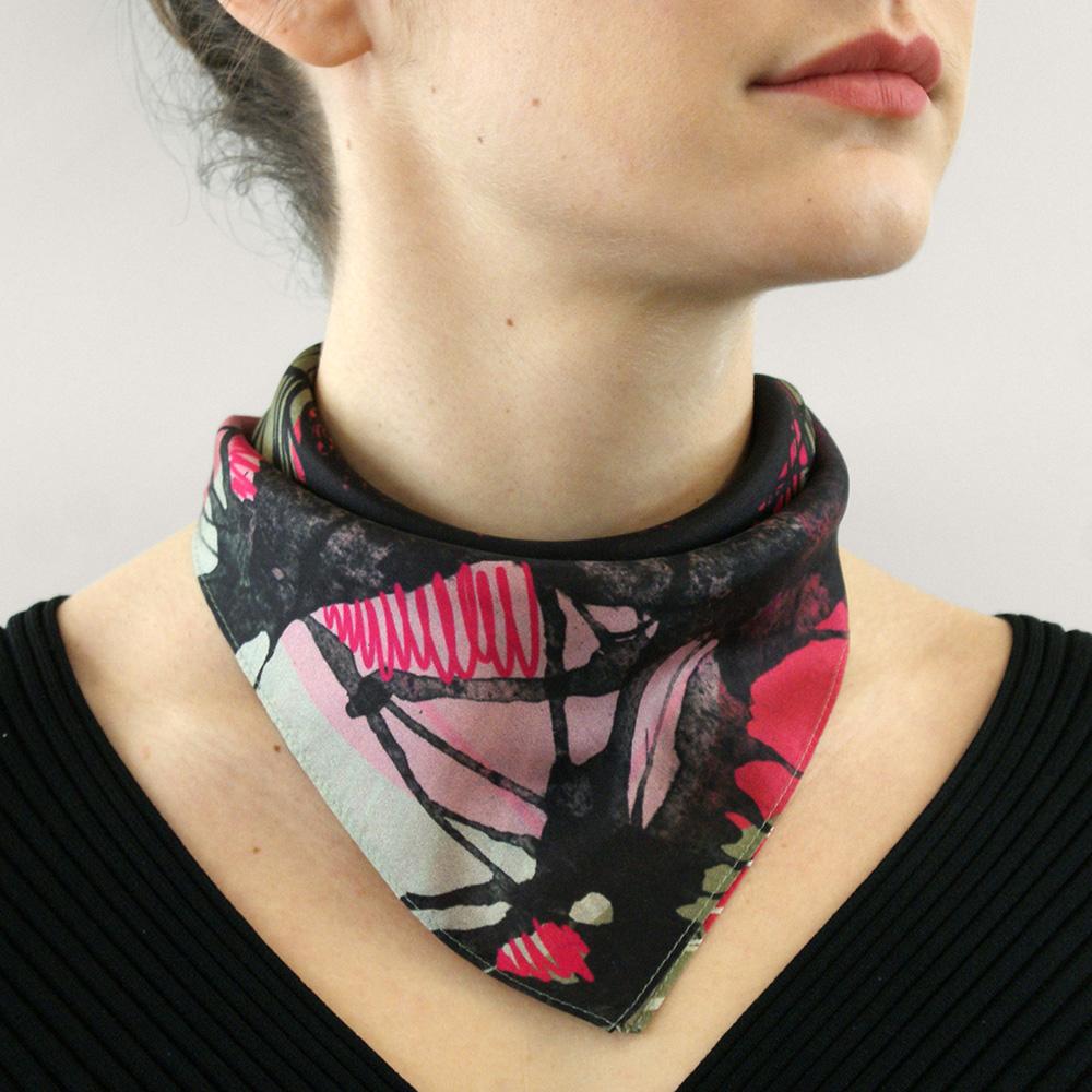 foulard noue lyon femme soie collaboration