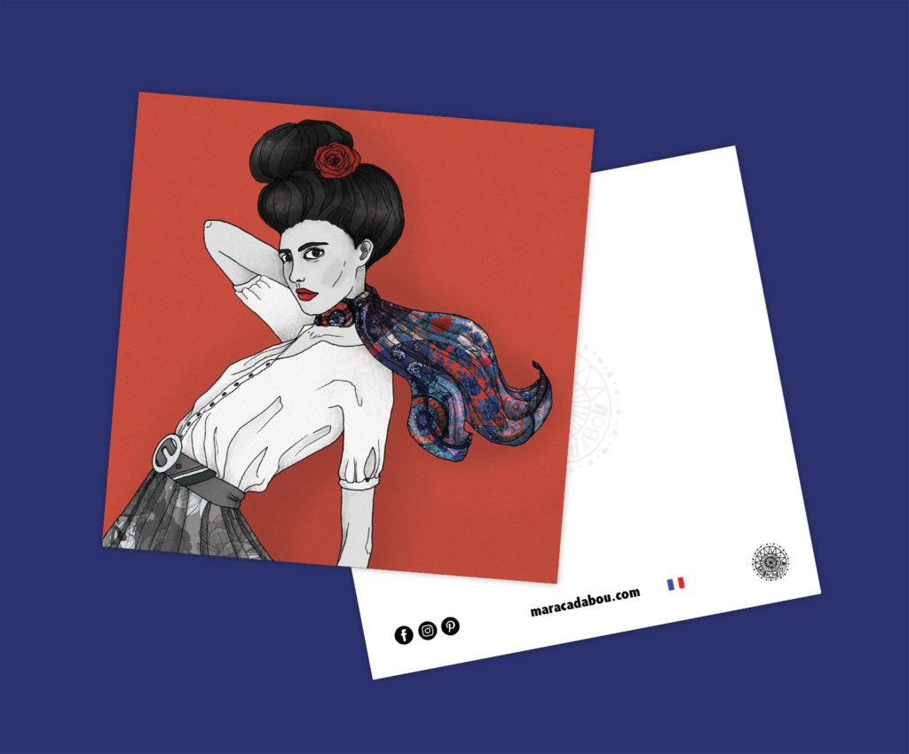 illustration boheme foulard lyon