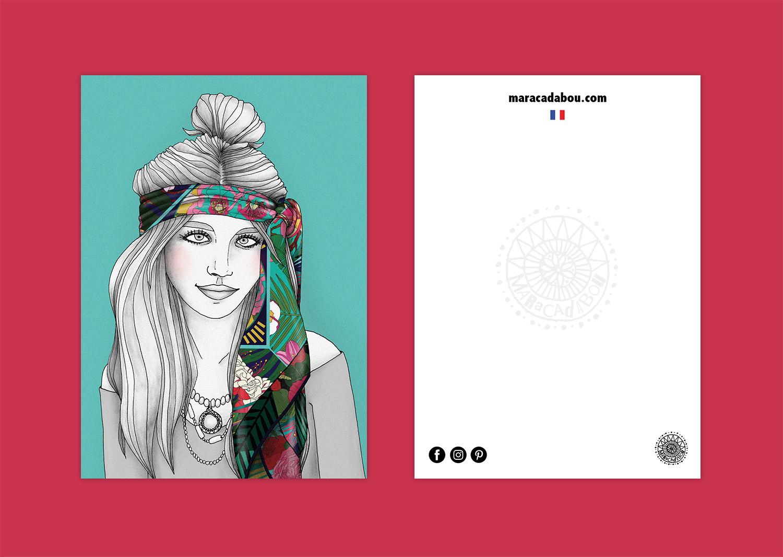 illustration exotique foulard lyon