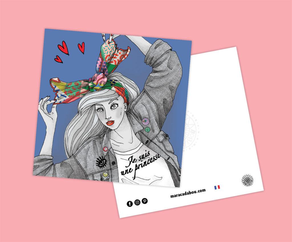 illustration pop foulard lyon