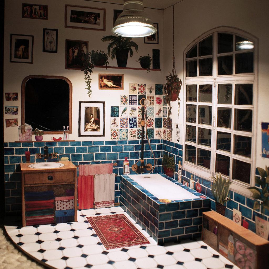 lampe salle de bain aquarelle lumiere