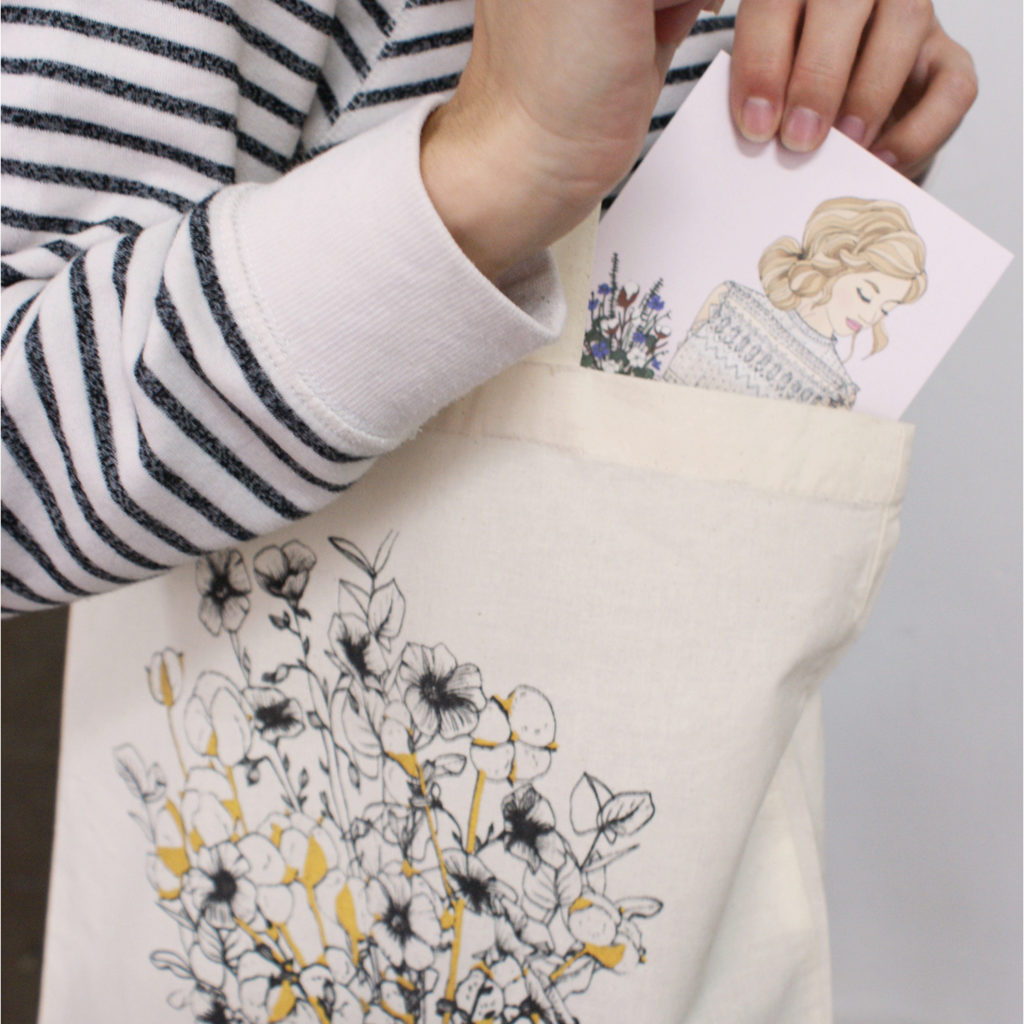 mademoiselle madame carte serigraphie