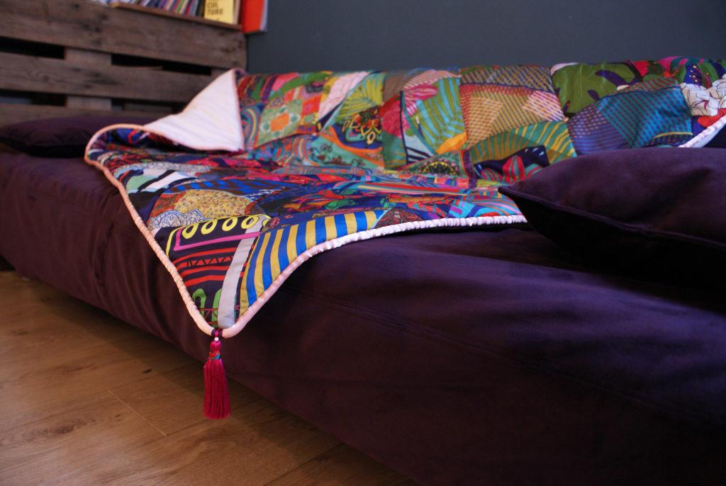 plaid canape soie foulard lyon chute