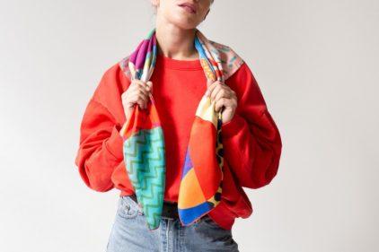 foulard colorful africa nouer femme lyon soie accessoire