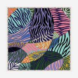 foulard doux zebra carre femme lyon soie