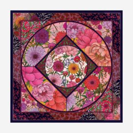 foulard le jardin d elise rose carre femme lyon soie