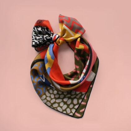 foulard safari nouer carre femme lyon soie2