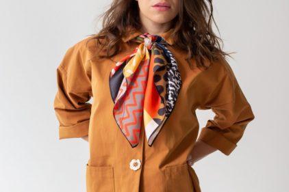 foulard safari nouer femme lyon soie accessoire