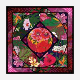 foulard viree exotique rose femme lyon soie