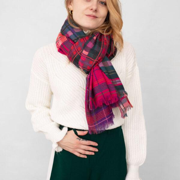 etole laine lyon femme chaude douce grande old school rose porter2